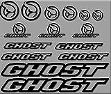 Ecoshirt I8-TAGH-A310 Aufkleber Ghost Bici R207 Stickers Aufkleber Decals Autocollants Adesivi,...