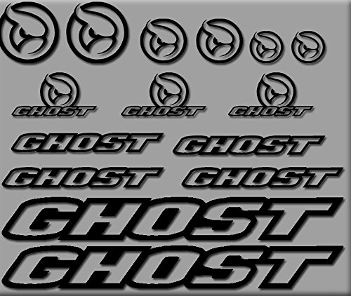 Ecoshirt I8-TAGH-A310 Aufkleber Ghost Bici R207 Stickers Aufkleber Decals Autocollants Adesivi, schwarz