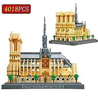 ノートルダムドパリ4018Pcsダイヤモンド・ビルディング・ブロックの世界の有名建造物スモールレンガ子供のための教育玩具ギフト