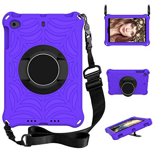 XunyLyee Compatible with ipad mini/ipad mini 2 /ipad mini 3 /ipad mini 4 /ipad mini 5 /iPad mini 2019 (7.9') Case, Kids Case Shockproof Stand Cover Protective Case - Purple