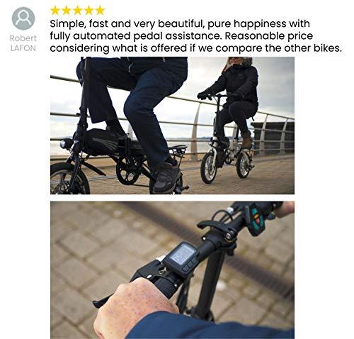 eelo 1885 PRO 14' Adults Folding Electric Bike - Portable eBike Easy to Store in Caravan, Motor Home, Boat, Car. Queen's Award Winner