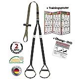 Variosling Schlingentrainer mit Türanker Military Force Tactical grün kaki - Made in Germany Suspension Trainer Functional Trainer