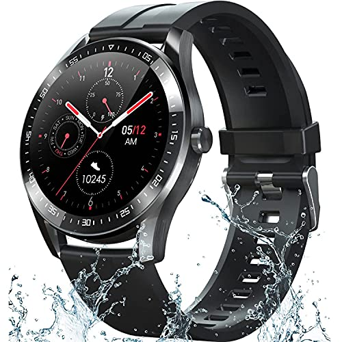 Smart Watch Fitness Tracker for Android iOS Phones,Body Temperature Smartwatch with Heart Rate Sleep Blood Pressure Blood Oxygen Monitor,Smart Watch for Men Women Compatible iPhone Android Samsung.