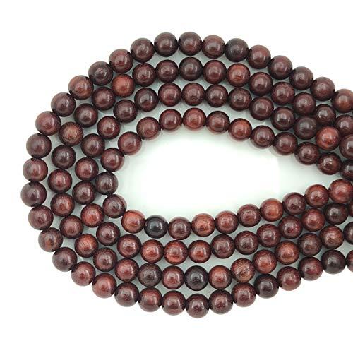 CarpenterC 200 Stücke 12mm Wunderschöne Natürliche Runde Polierte Rosenholz Lose Perlen für Schmuck Machen DIY Handgefertigte Handwerk