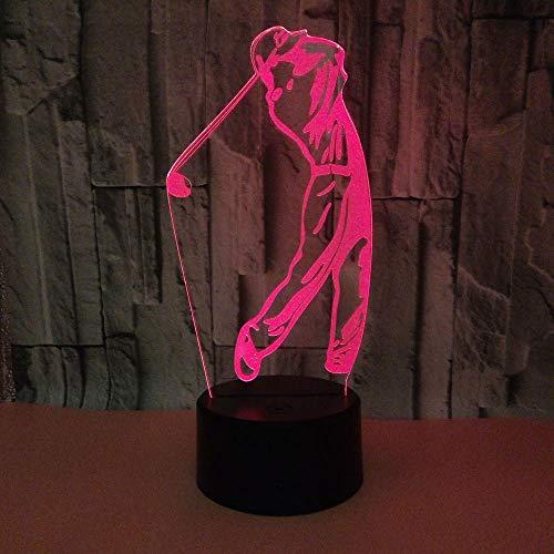 MRQXDP sporters, golf spelen, dimbaar, nachtlampje, instelbaar, 7 kleuren, draagbaar, voor baby's, volwassenen, slaapkamers, enz, vrienden, Kerstmis, verjaardagscadeau, abajur