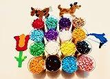 The Wolff Bügelperlen Set, Grundfarben Nachfüllset, 16000 Perlen, 16 frische, leuchtende und glänzende Basisfarben, Hama kompatibel, ideales Bastelset für...