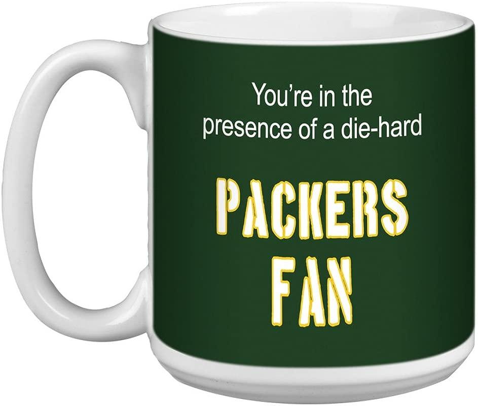 Tree Free Greetings XM28118 Packers Football Fan Artful Jumbo Mug 20 Ounce