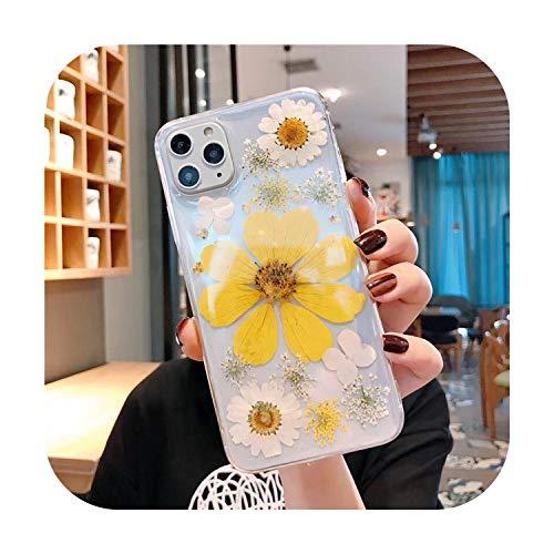 Funda de silicona para iPhone 11, Pro Max X XS Max XR 6 6S 7 8 Plus, hecha a mano, diseño floral