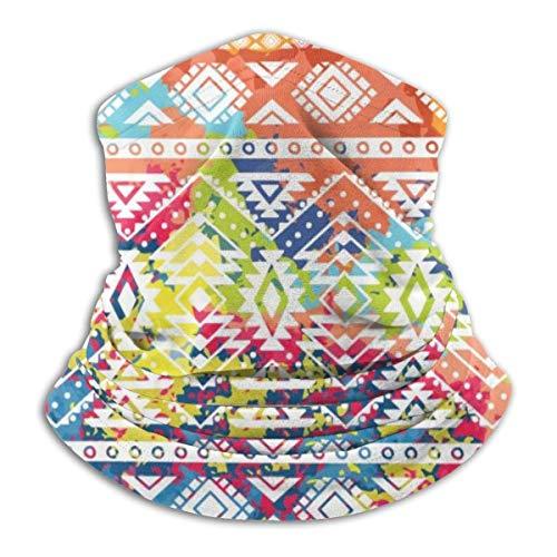 Heldere etnische patroon, geometrische gestreepte achtergrond, tribale motieven, vlekken kleuren, Vector hals Warmer Balaclava