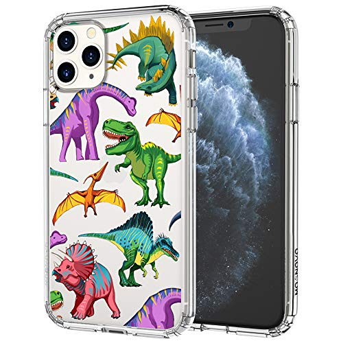 for iPhone 11 Pro Case, MOSNOVO Clear Slim Soft TPU + PC Shockproof Protective Phone Cover with Cool Dinosaur Design Case for iPhone 11 Pro