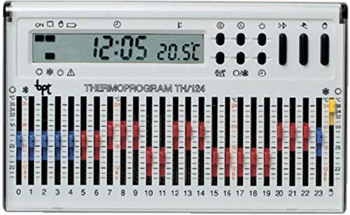 Cronotermostato elettronico giornaliero da parete bianco TH 124.01 BB