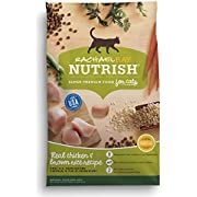 Rachael Ray Nutrish Premium Natural Dry Cat Food, Chicken & Brown Rice Recipe, 3 Pounds