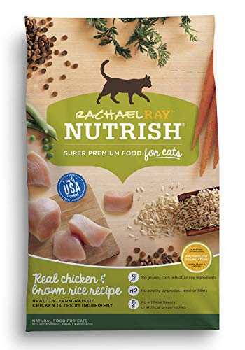 Rachael Ray Nutrish Super Premium Dry Cat Food with Real Meat & Brown Rice 3