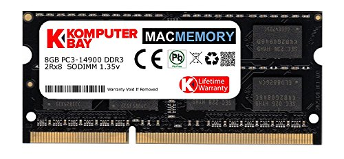 Komputerbay MACMEMORY 8GB Dual Channel Kit 1x 8GB 204pin 1.35v DDR3-1867 SO-DIMM 1867/14900S (1867MHz, CL13) for Apple iMac 275K (Late 2015)
