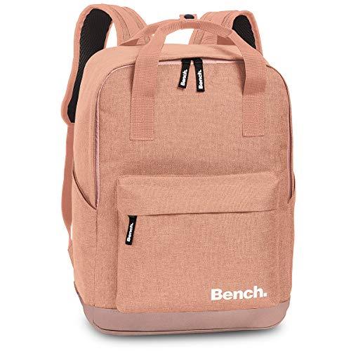 Bench Handtaschen Rucksack City Daypack Backpack 64174, Farbe:Altrosa