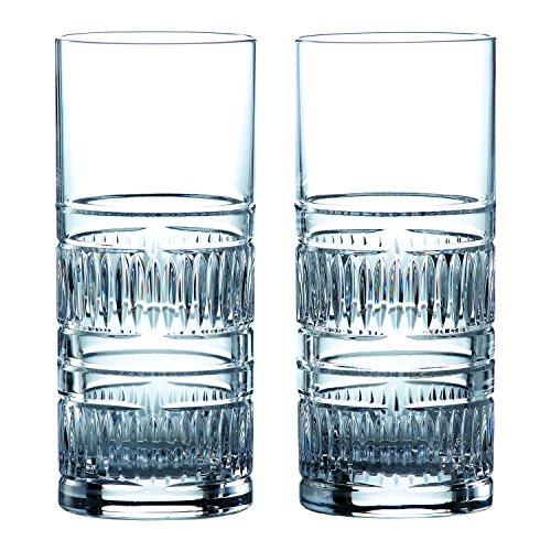 Royal Doulton Conjunto de 2 Copos de Whisky Altos Radial Transparente