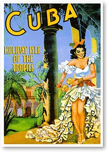 BOIPEEI Rompecabezas Rompecabezas 1000 Piezas Islas Tropicales Rompecabezas de Viaje Cuba Hawai I Jamaica Rompecabezas de Arte Turístico para Adultos Regalos para Bebés 50X75Cm