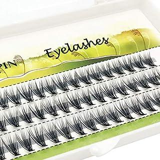 False Eyelashes - 60 pieces Mink Individual Lashes Natural False Fake Eyelash Long Lashes Extensions Tools Makeup strip fa...