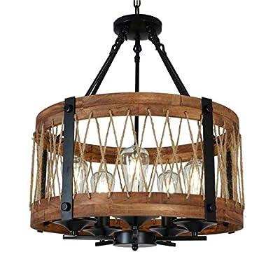DEARLAN Wood Chandeliers Rustic Chandelier Lighting