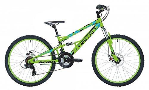Bicicletta da bambino Atala STORM, 21 velocità, colore verde fluo - nero, 24', altezza max 140cm