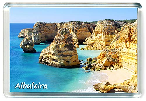 I383 Albufeira Jumbo Imán para Nevera Portugal Travel Fridge Magnet