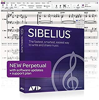 AVID Technology Sibelius Music Notation Software Software - Perpetual Licence (valid forever) with 12 months support and upgrades