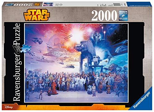 Ravensburger Puzzle 2000 Pezzi, L'Universo Espanso di Guerre Stellari, Collezione Star Wars, Jigsaw Puzzle per Adulti, Puzzles Ravensburger - Stampa di Alta Qualità, Dimensione Puzzle: 98x75cm