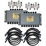 16 Way Zinwell Multiswitch Kit for AT9 AU9-S SL3 SL5 KaKu Band Satellite Dish Replaces MS6X16WB-Z Wide Band 6x16 Multi-Switch MPEG-4
