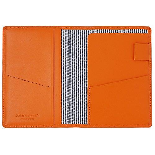 スリップオン パスポートケース ノワール 革 オレンジ NSL-2801