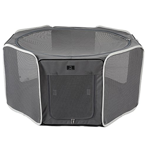 A4Pet Portable Foldable Pet Playpen Exercise Pen Kennel Outdoor and Indoor Use