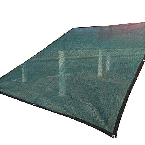 Sunblock Chiffrage d'épaississement de filet de parasol vert foncé de 90% pour le jardin de balcon de jardin Taille facultative (Couleur : Green, taille : 3×5M)