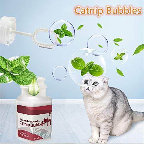 zhuangyulin6 Narutal Catnip Bubble, Kätzchen Interaktives Spielzeug, Catnip Bubbles Interaktives Katzenspielzeug, Narutal Cat Catnip
