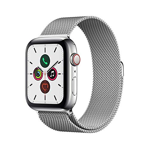 Apple Watch Series 5 (GPS + Cellular, 44 mm) Acero Inoxidable - Milanese Loop