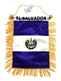 EL Salvador Interior Rear View Mirror Car Automobile Flag Banner