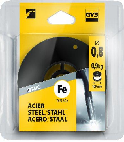 GYS - Rotolo di filo animato in acciaio, diametro rotolo 100 mm, 0,9 kg, diametro filo 0,8 mm