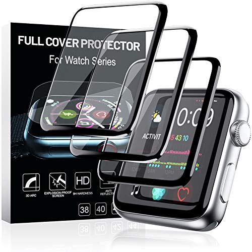 [3 Pack] Watch Screen Protector for Apple Watch 44mm Series 6/SE/5/4 Full...