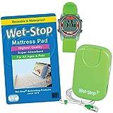 Deluxe Bedwetting Kit Wet-Stop Bedwetting Alarm, WobL+ Waterproof Watch, Waterproof Mattress Pad