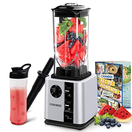 CRANDDI Blender, Smoothie Blender, Professional High-Speed Countertop Blender with 1800W Base, 80oz BPA-free Pitcher for Family/ Commercial Size Frozen Desser, Shakes and Smoothies, Built-in Pulse & Easy Self-Cleaning, K95-S