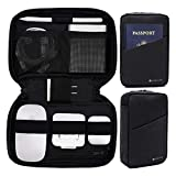 Purevave Tech Kit, Small Electronic Gadget Bag,Travel Cable Organizer case, Cord Accessories Storage Pouch for Apple Pencil, Mouse, Hard Drive, Phone Charger, USB, SD Card, Power Bank and EDC Black