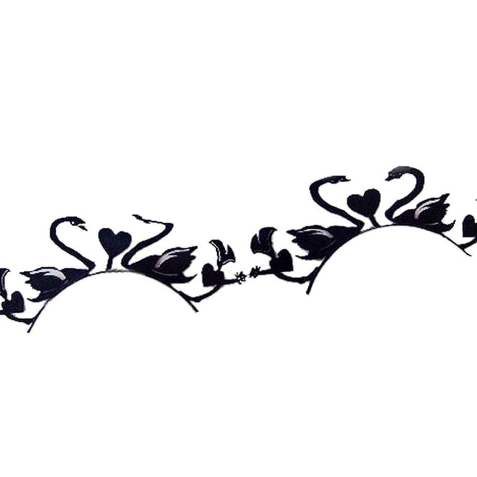 暴力的な落ち着いたまつげ花嫁紙カットアートスタイルの紙ステージ白鳥と愛まつげ