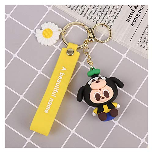 Qsdxlsd Llavero Llavero Mickey Mouse Minnie Stitch Donald Duck Llavero Dibujos Animados Figuras Colgante para Ladies Bag Key Ring decoración (Color : 4)