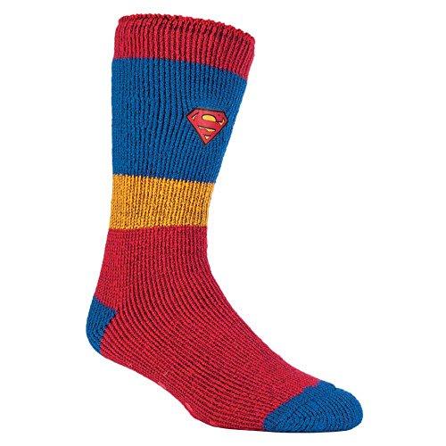 HEAT HOLDERS - Herren & Jungen Marvel thermische Anti Rutsch Socken Stoppersocken in 4 Designs (39-45 Eur, 6-11 UK, Superman/Übermensch)