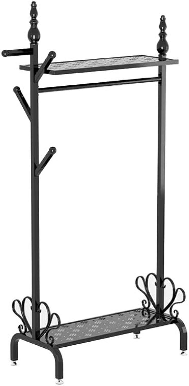 Premium Entryway Coat Rack with Shelf, Multipurpose Metal Coat Stand shoes Rack, Heavy Duty Hall Home Rustproof-L 80x40x170cm(31x16x67inch)
