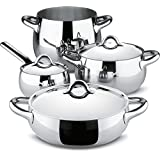 Alessi sg100s7 Mami Cookware Set Stainless Steel 38 x 46 x 40 cm