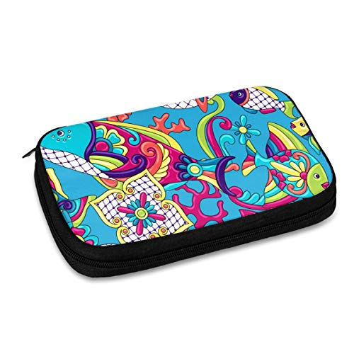 Electronics Organizer Traditional Decorative Objects Jelly Comb Electronic Accessories Cable Organizer Bag Travel Cable Storage Bag for Cables, Laptop Charger, Tablet (Up to 9.4'')
