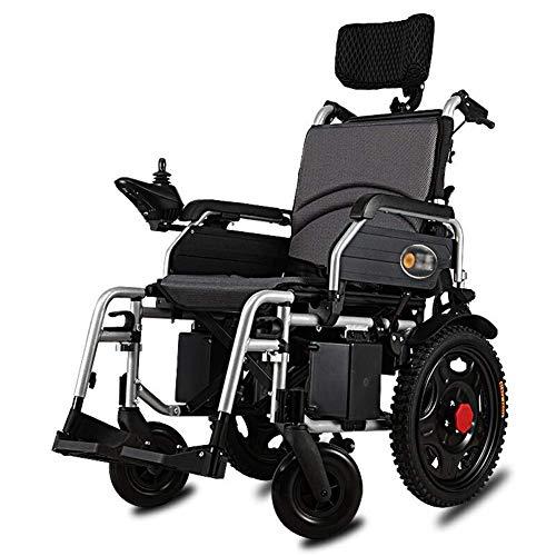 TWL LTD-Wheelchairs Silla de Ruedas Plegable Ligera con Brazos Largos Y Reposapiés Elevables, Asiento de 46 Cm, Transporte de Frenos para Silla de Ruedas, Soporte 120 Kg