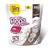 Flopp - detergente ropa con suavizante estuche (40 cápsulas) | detergente suavizante ropa blanca y color. | detergente eco limpia sin ensuciar el planeta.