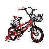 Bicicleta para niña de 2 a 7 años, con Freno de contrapedal, Modelo de 12/14/16/18 Pulgadas, Color Azul, Rojo, Amarillo + Taza de Agua,Rojo,12INCH