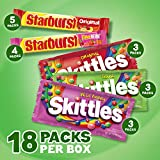 SKITTLES & STARBURST Candy Single Size Variety Mix 18 Pieces