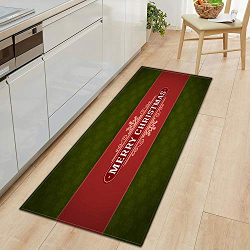 XIAOZHANG Kitchen Entrance doormat rugs Creative christmas Crystal velvet door mat indoor outdoor carpet corridor floor bedroom living room study rugs Non-slip absorbent 60x180CM